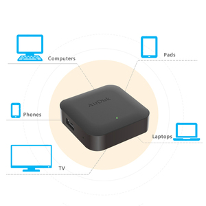 "Image 4 - Airdisk q2 모바일 네트워크 하드 디스크 usb2.0 2.5 ""홈 스마트 네트워크 클라우드 스토리지 다중 사람 공유 모바일 하드 디스크 박스"