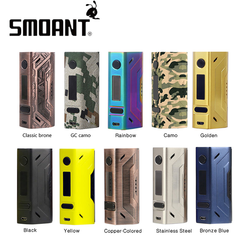 Original 200W Smoant Battlestar TC Box MOD Without Battery For Spring Loaded 510 Pins/SS Connector 25mm For E-cig 2107 NEW