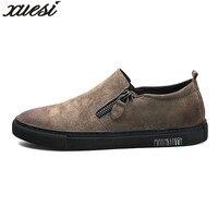 جديد أزياء والجلود الرجال sapato masculino الرجعية الجانب سستة أحذية رسمية للرجال zapatillas دي هومبر sepatu بريا الاجتماعية حذاء