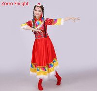 Tibetan Dance Performance Clothing Women Ethnic Minority Costumes Ethnic Costumes Performance Clothing Zang Nationality 2018