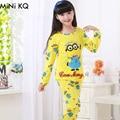4Y-12Y niños minions Pijamas Unisex Niños Sping Del Otoño de Manga larga Ropa Interior Adolescente Niños Niñas Pijama Infantil