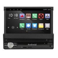Универсальный 1 Din Android 6,0 Автомобильный мультимедийный плеер 2 Гб ОЗУ Выдвижной Автомобильный плеер Bluetooth FM USB с обезьянкой gps HD 7 дюймов