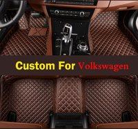3d Car Floor Mats For Volkswagen Tiguan 2009 2017 Models NEW ARRIVAL Red Purple High Class Custom Fit Profession