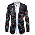 Homens de luxo Slim Fit Vestido Negócios Blazer Terno Blazer Jaqueta Marca de Design de Impressão Ocasional Masculino pleuche Terno Do Casamento Terno de Negócio Blazer