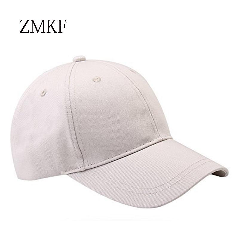 2018 ZMKF nieuwe vrouwen effen kleur paardenstaart baseball cap zomer - Kledingaccessoires - Foto 5