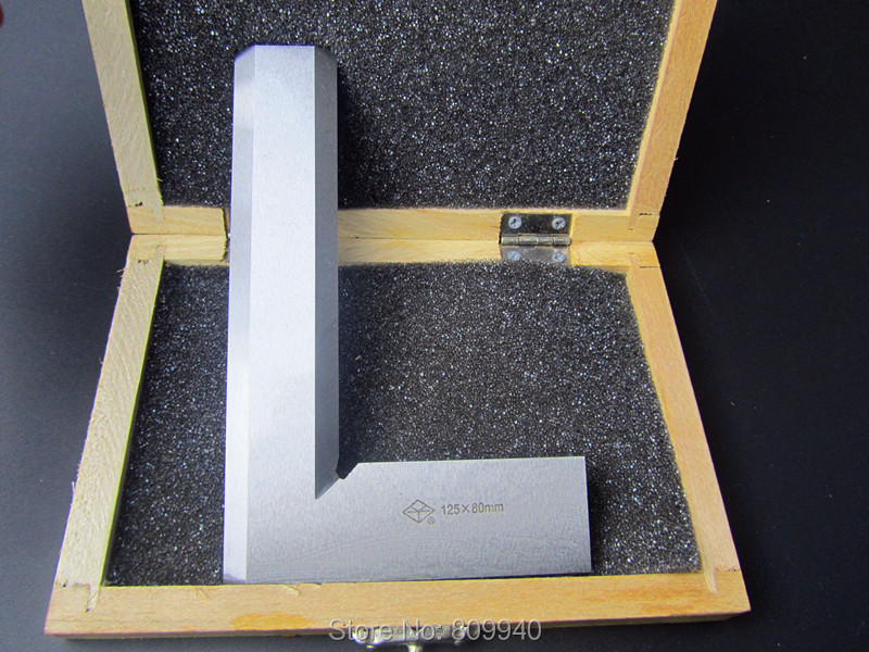 Прямая Нержавеющая Сталь Серебряный тон 125 мм x 80 мм Bladed 90 градусов угол попробуйте квадратный правитель