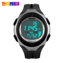 2016 Luruxy Marca SKMEI Deportes Al Aire Libre Relojes Hombres Mujeres Reloj Digital de Temperatura Multifunción Impermeable Reloj Casual