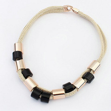 Boho chokers 2017 Fashion all-match rope geometric colorful bead Long necklace body jewelry choeker necklac Necklace For Women