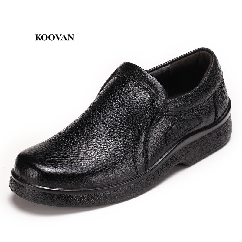 Men's Shoes Shoes Koovan Mens Shoes Genuine Leather Men 2018 New Mens Leisure Sets Of Thick Feet Chef Work Shoes Wholesale Soft