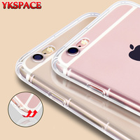 Wholesale 100pcs Clear Cover Anti Shock Soft Silicone TPU Case For IPhone 6 6S 7 Plus