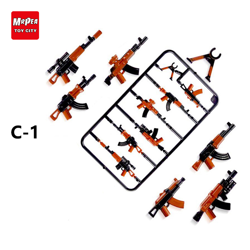 Legoing Duploed Military Series Swat Police Gun Weapons Pack Army Brick For City DIY building blocks Toys for Childrens
