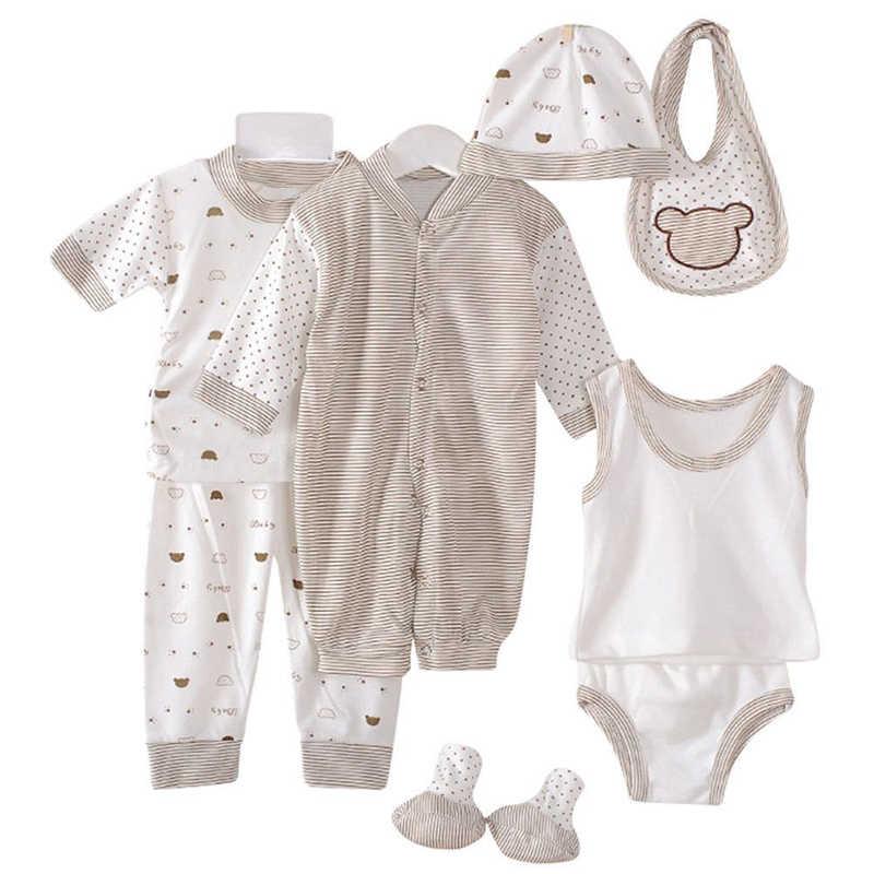 8 stücke set anzüge für babys kleidung trainingsanzug neugeborenen kind unterwäsche jungen kleidung unisex anzug neue geboren mädchen kleidung sets