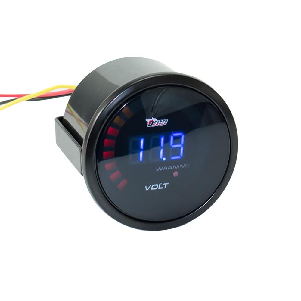 Led Auto Gauges : Inch mm v car digital voltmeter volt gauge meter