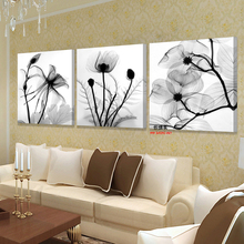 Canvas Oil Painting 3 Piece Modern Transparent Picture Art Print Wall Modular Pictures For Living Room