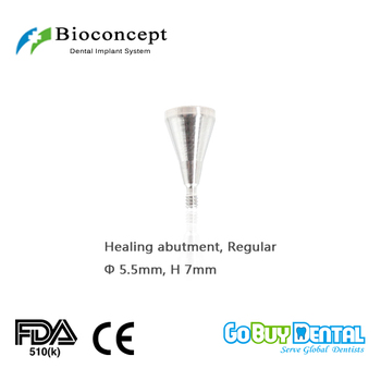 Osstem TSIII&Hiossen ETIII Compatible Bioconcept Hex Regular healing abutment D 5.5mm, height 7mm(324540) 1x angular 17 degree one piece multi unit abutment for internal hex dental implants bio effect
