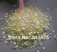 Grande quantità all'ingrosso 50000 pz Crystal white Magic di colore AB gelatina di 4mm strass in resina bastone Mobile trapano SS16 0024 #