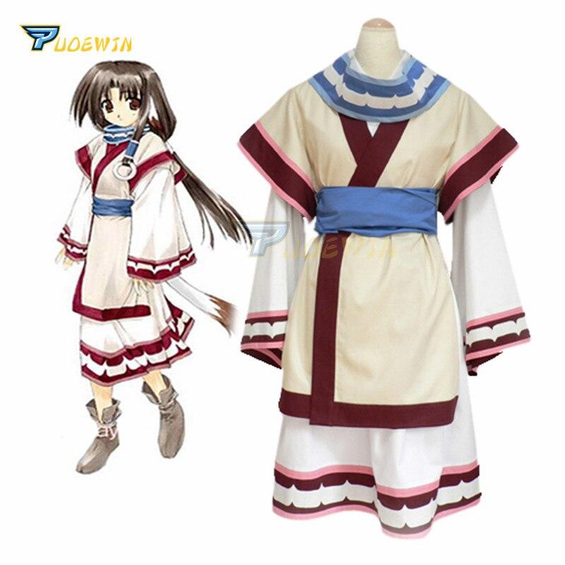 Anime Utawarerumono Eruru Cosplay Costume Custom Made Kimono Uniform Costume
