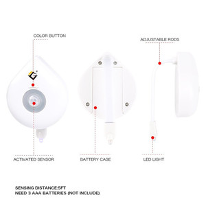 Image 5 - Coquimbo 16 Colors Motion Sensor Toilet Light Battery Operated Backlight For Toilet Bowl Fit For Any Toilet Bathroom Night Light