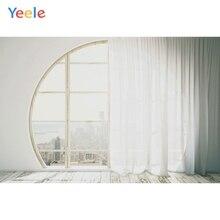 лучшая цена Yeele Window Curtain Photography Backdrops Interior Wedding Vinyl Photographic Backgrounds For Photo Studio Foto Achtergrond