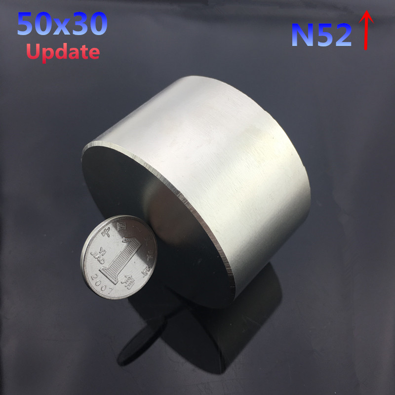 1 pc N52 aimant 50x30mm chaude rond aimants 50*30mm Forte aimants Rare Earth Néodyme aimant 50x30mm en gros 50*30