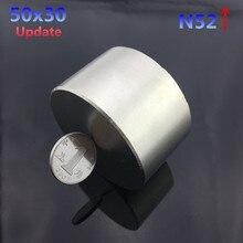 1 pc N52 aimant 50x30mm chaude aimant rond 50*30mm Forte aimants Rare Earth Néodyme aimant 50x30mm en gros 50*30