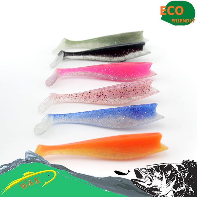 14cm*3pcs, black, pink, orange, green, khaki color bass fishing lure----3pcs free shipping rotating soft bait #H0905-140
