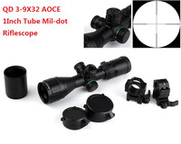 Hunting Illuminated 3 9X32 AOCE Compact Rifle Scope Mil Dot Scopes Sun Shade Quick Detach Mount