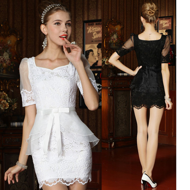Xiaxin o-mei fashion small lace organza princess one-piece dress small formal dress