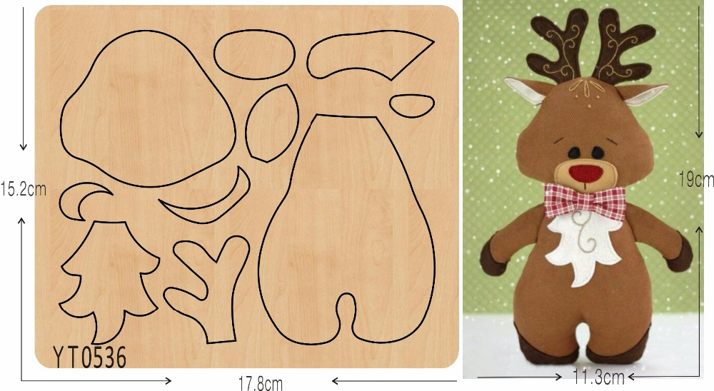 Cute Elk DIY new wooden mould cutting dies for scrapbooking Thickness 15 8mm YT0536