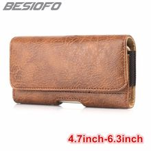 Horizontal Magnetic With Belt Clip Waist Pouch Card Slots Bag Phone Case For Samsung Galaxy S4 S5 S6 S7 S8 Plus S9 S7 S8 Edge(China)