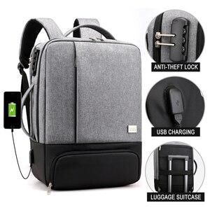 Image 2 - Chống Trộm Ba Lô Nữ Nam Laptop Bagpack 15.6 USB Sạc Nam Xách Tay Lưng Du Lịch Học Mochila Nam Màu Đen của Túi