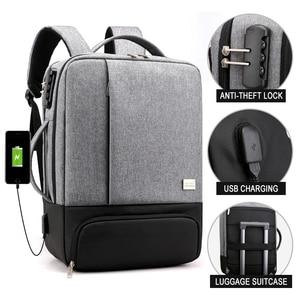 Image 2 - Sac à dos Anti vol pour femmes et hommes, chargeur USB pour ordinateur portable, cartable pour voyage, cartable noir, sacoche pour ordinateur portable 15.6