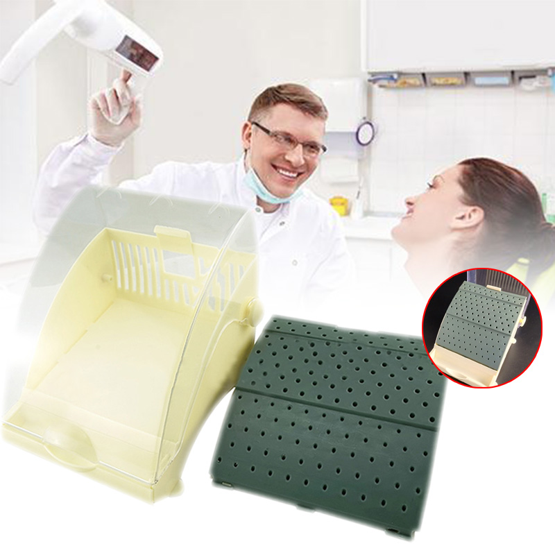 142 Dental Burs Block Holder Station With Pull Out Drawer Holds Durable Easily Sterilized Box For Doctor Dentist