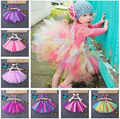 Fancy Neon TuTu Toddler Girl's Princess Lovely Bow Skirt Party Dancewear 0-8Y