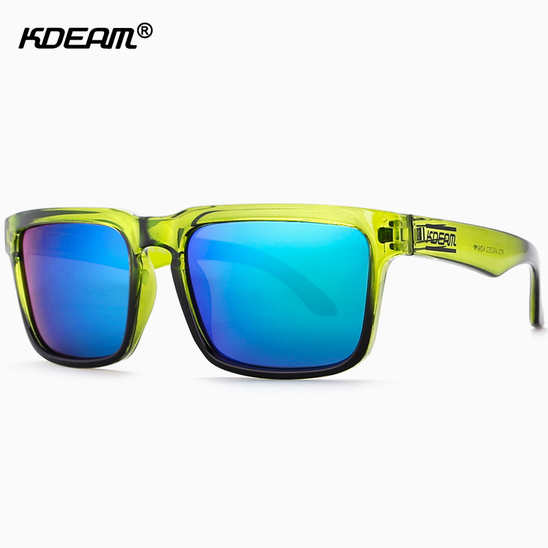 Kdeam 2018 Sonnenbrille Polarisierte Männer Quadrat Sonne Gläser Außen Klassische Frauen Marke Design Brillen 100% Uv400 6 Farben Kd1012 Sonnenbrillen Bekleidung Zubehör