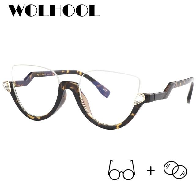 ff2b9b42aa Vintage Unique Big Frame Glasses Fancy Oversize Optical Frames Women Trendy  Half Frame Eye Glasses Men Prescription Eyewear