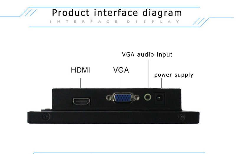 Pantalla ancha de 8/8, 2 pulgadas HD metal HDM portátil IPS Pantalla de expansión de la computadora soporte 1080 interruptor de pantalla de juego