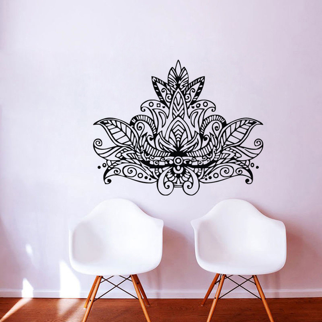 Aliexpresscom Buy EHome Lotus Mandala Wall Art Stickers Flowers - Vinyl stickers designaliexpresscombuy eyes new design vinyl wall stickers eye wall