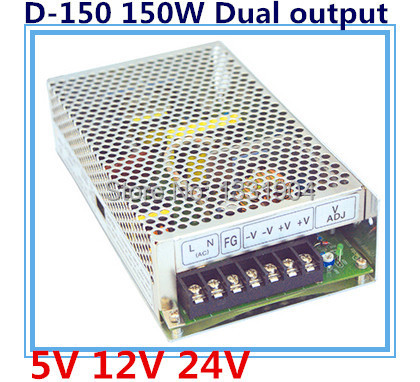 new original AC to DC LED dual output switching power supply D-150, 150W AC input, output voltage DC 5V 24V transformer цена