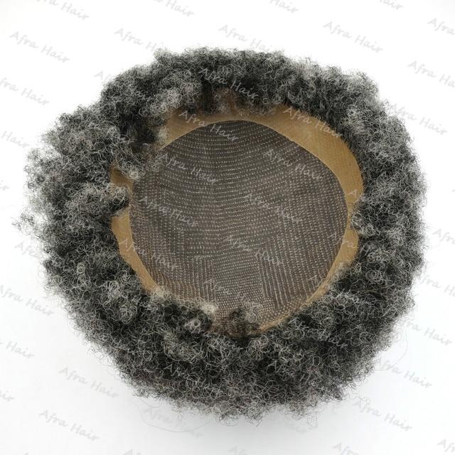 Оптовая Афро Curl Высокое Качество Индийских Реми Натуральных Волос Кружева и Пу Мужчин тупею H043