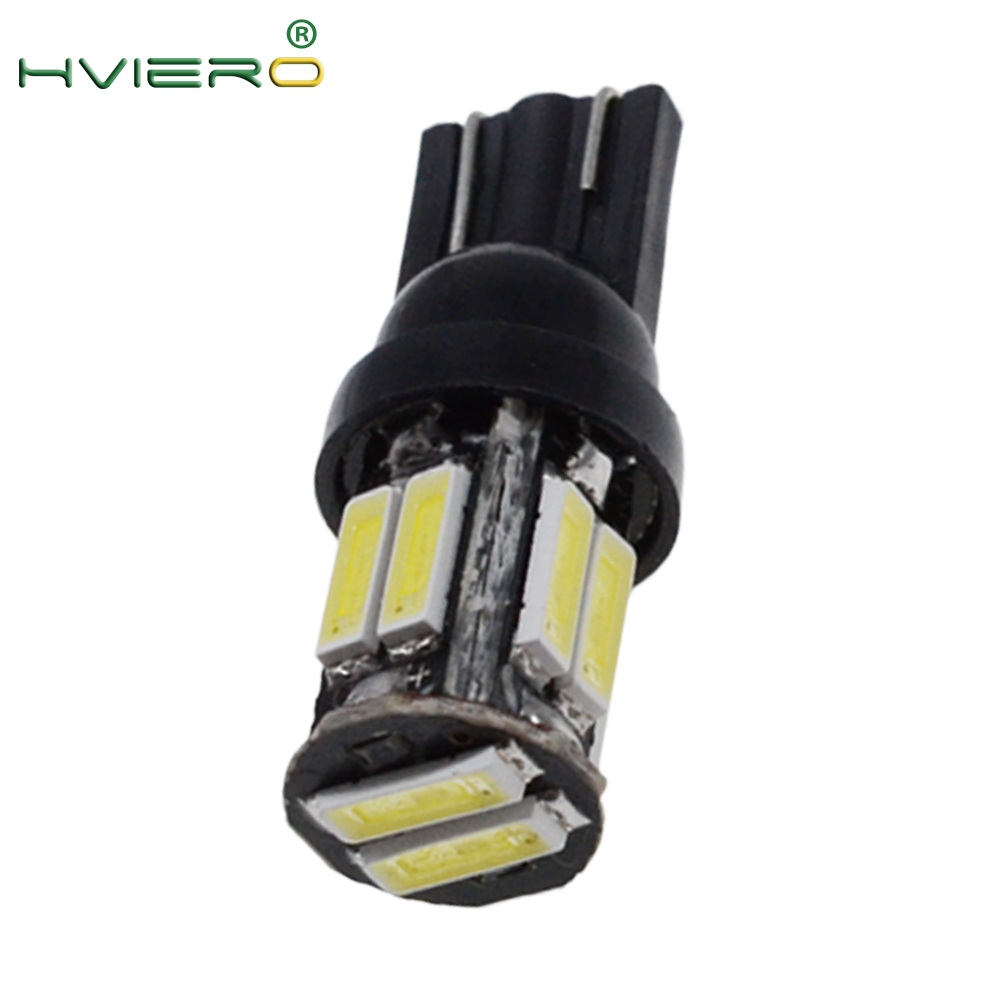 10 Led 7020 SMD Auto LED 194 168 Wedge Replacement Reverse Instrument Panel Lamp White Blue Bulbs For Clearance Lights