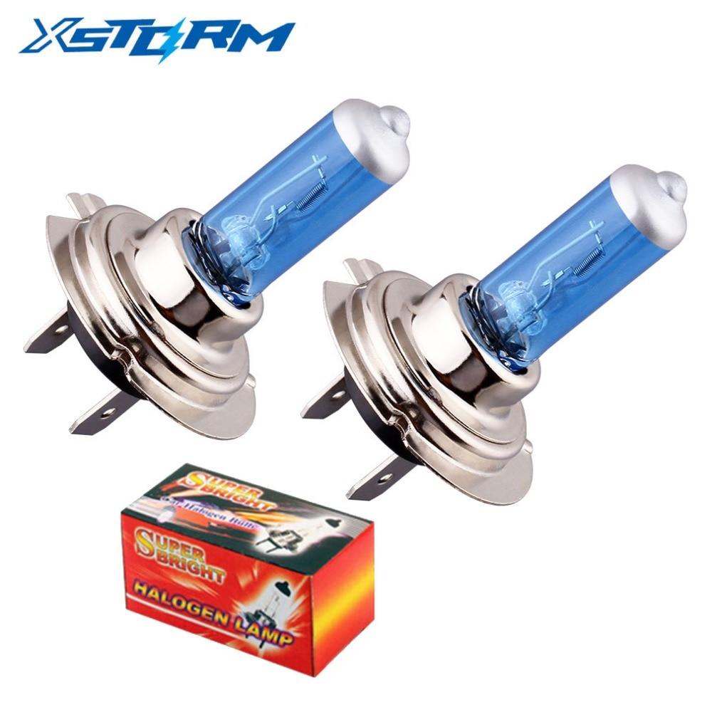 2pcs H7 55W 12V Halogen Bulb Super 5000K White Fog Lights High Power Car Headlight Lamp Car Light Source Car Styling Parking