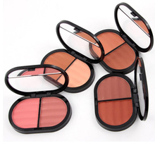 MISS ROSE Brand Makeup 2 Color Face Blusher Contouring Minerals Contour Make Up Maquillage Bronzer Blush Powder Palette 2pcs/lot