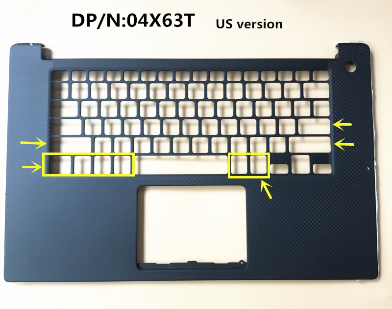 Laptop/Notebook Keyboard/touchpad/Palmrest top case/cover/Housing for Dell XPS 15 <font><b>9570</b></font> Precision 5530 M5530 0D6MP4 04X63T US image