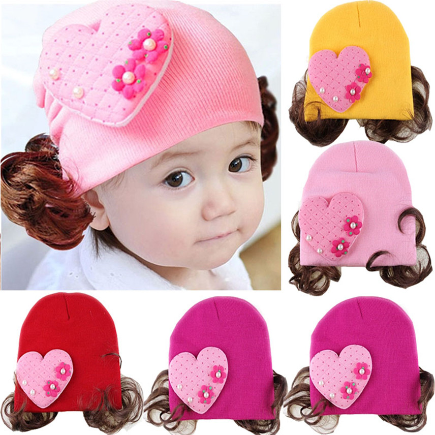 Boys' Baby Clothing Competent Yangmaile Love Heart Toddlers Infant Baby Girl Headband Hair Band Headwear Wig Hat Dropshipping Zwangerschaps Kleding Y*