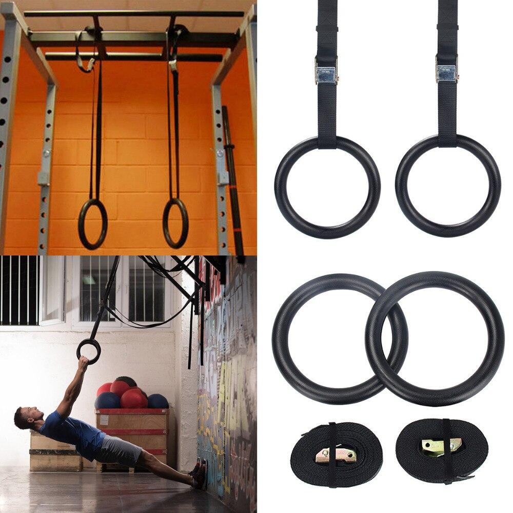 Nouveau 38mm Exercice de Remise En Forme Anneaux De Gymnastique Gym Exercice Crossfit Pull Ups Muscle Ups Peut résister à 400 kg