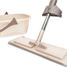купить Household goods flat mop household tile floor wood floor lazy mop life cleaning tool bedroom kitchen cleaning supplies cloth дешево