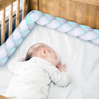 3M Baby Handmade Nordic Knot Newborn Bed Bumper Long Knotted Braid Pillow Baby Bed Bumper in the Crib Infant Room Decor