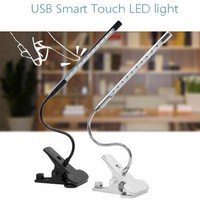 Hot Touch Dimmable Flexible USB LED Eye Care Reading Light Adjustable LED Solid Clip Desk Lamp