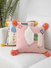 Fringe Pillow Cojines Decorativos Para Sofa Chair Cushion Living Room Nap Pillow Tufted Literary Photo Christmas Pillow Cover цена в Москве и Питере